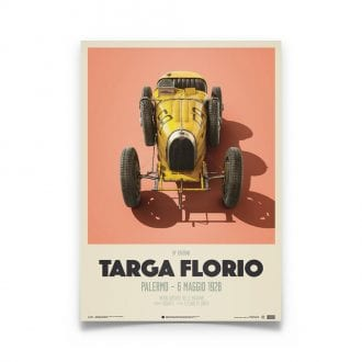Product image for Bugatti T35 Yellow Targa Florio 1928: Limited Poster