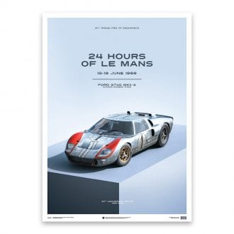 Product image for Ford GT40 Blue 24h Le Mans 1966: Limited Poster