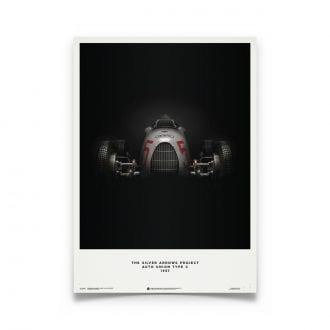 Product image for Auto Union Type C Silver 1937 Poster