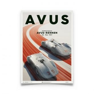Product image for Mercedes Benz & Auto Union Silver Avus 1937 Poster