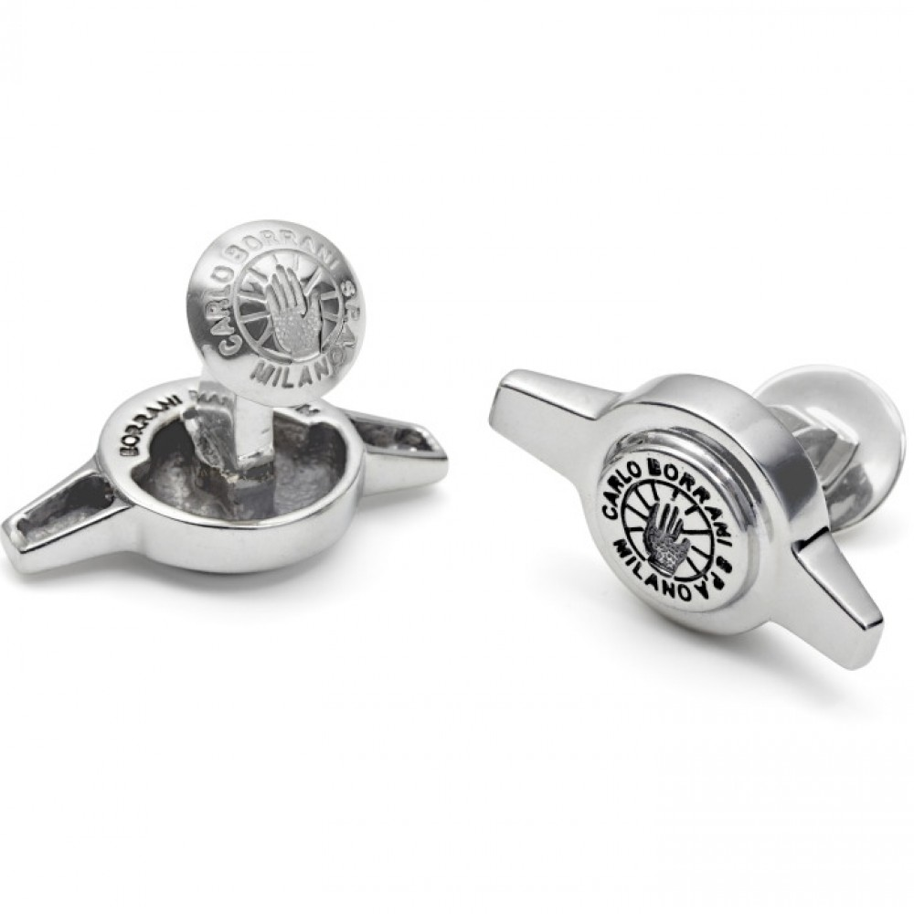 Product image for Genuine Borrani 2 Ear Spinner Cufflinks