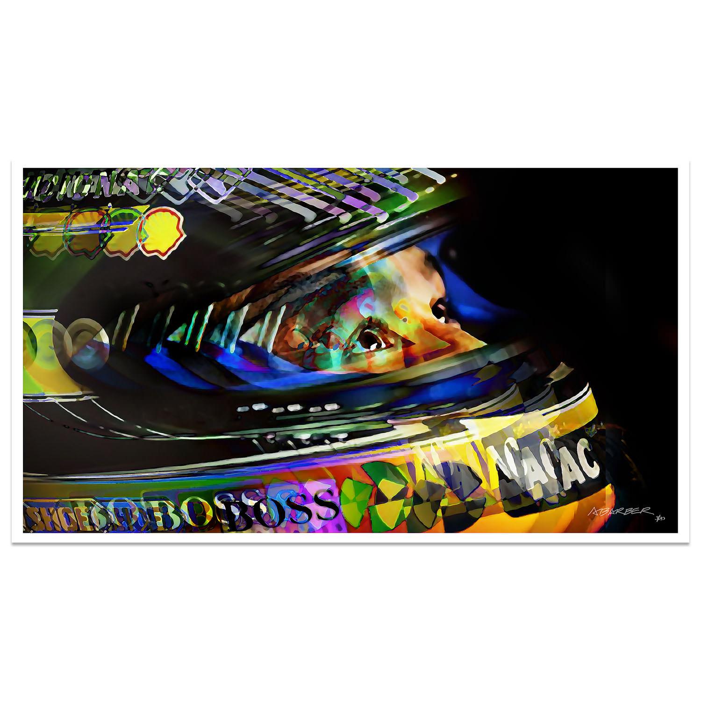 Product image for Aryton Senna | Upward Glance | McLaren Honda | F1 Art