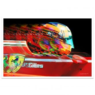 Product image for Gilles Villeneuve Profile Ferrari