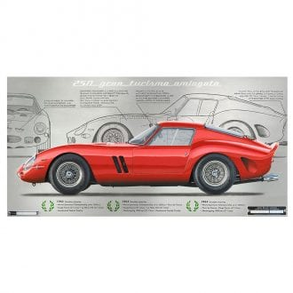 Product image for Ferrari 250 GTO Aluminium Print