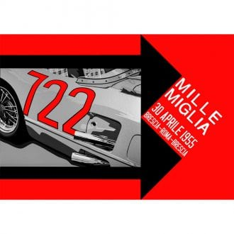 Product image for Mille Miglia 722 Landscape Poster
