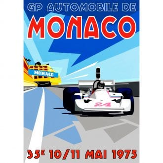 Product image for Monaco GP Poster