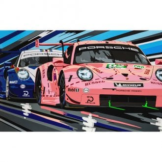 Product image for Porsche 1&2 Landscape Print