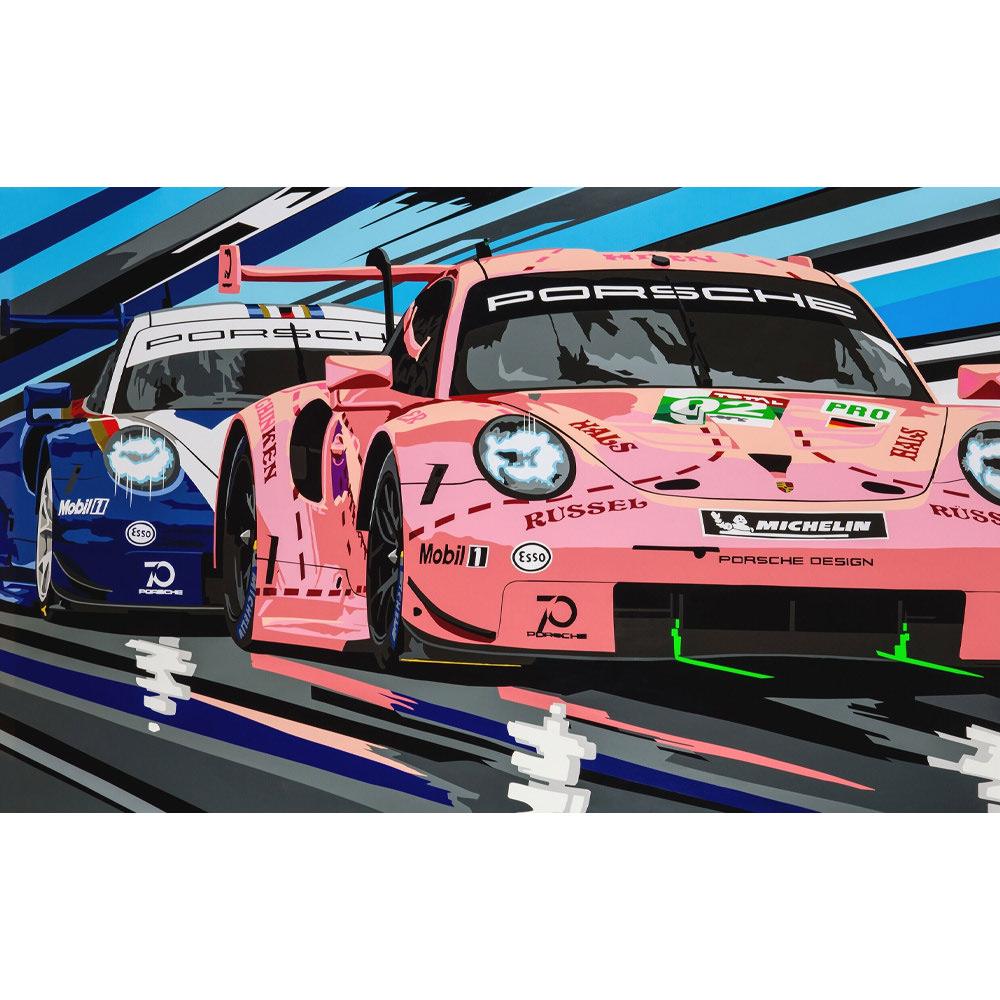 Product image for Porsche 1&2 Landscape Print