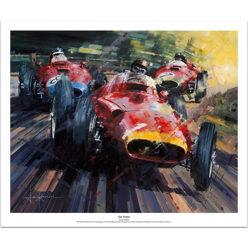 Product image for Maserati 250F Epic Victory: Limited Edition Print