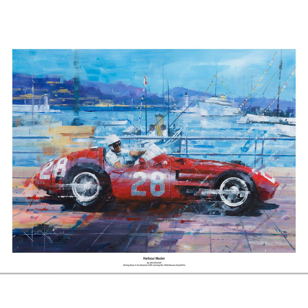 Product image for Maserati 250F Harbour Master: Limited Edition Print