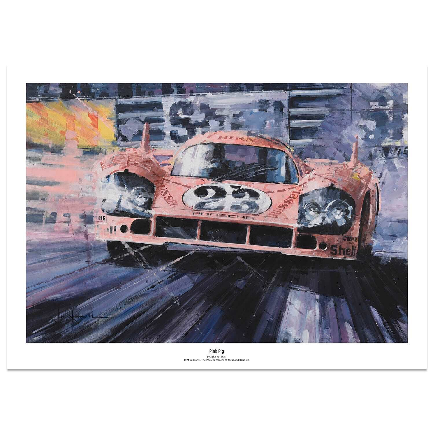 Product image for 1971 Le Mans Pink Pig: Limited Edition Print