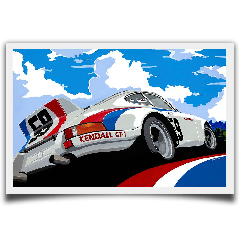 Product image for Porsche 911 RSR 1973 Brumos: Limited Edition Print