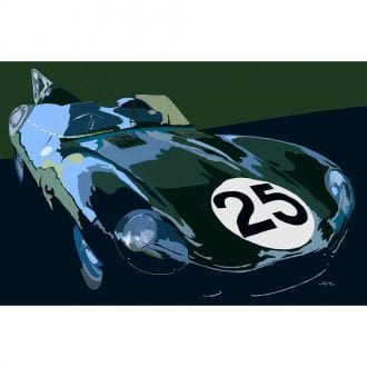 Product image for Jaguar D-Type: Limited Edition Print