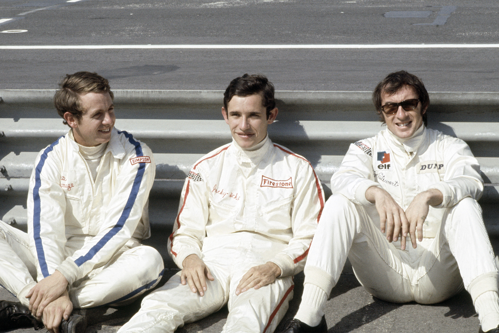 Piers Courage, Jacky Ickx and Jackie Stewart