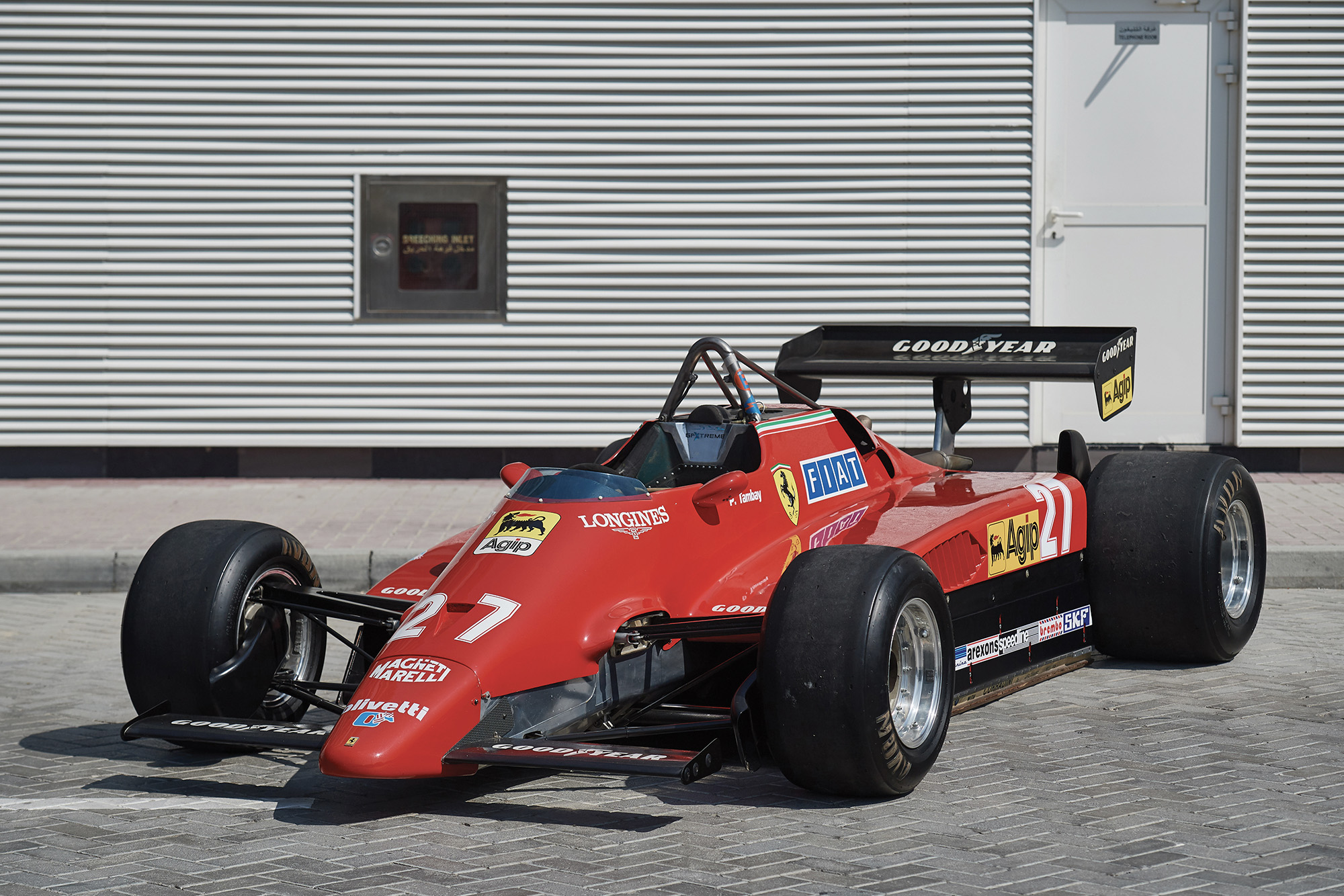 Front view of the 1982 German Grand Prix-winning Ferrari 126 C2