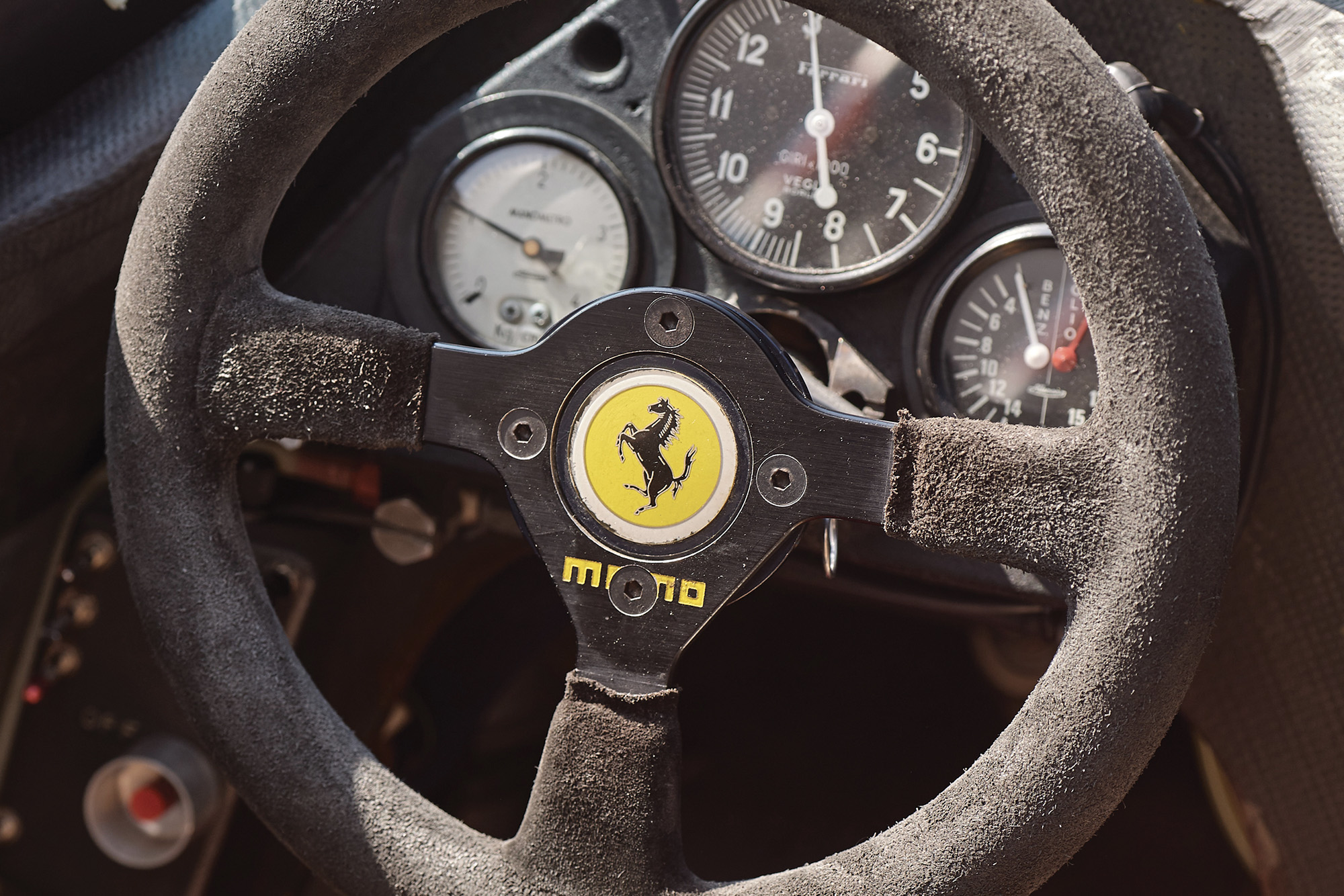 Cockpit of the 1982 F1 Ferrari 126 C2