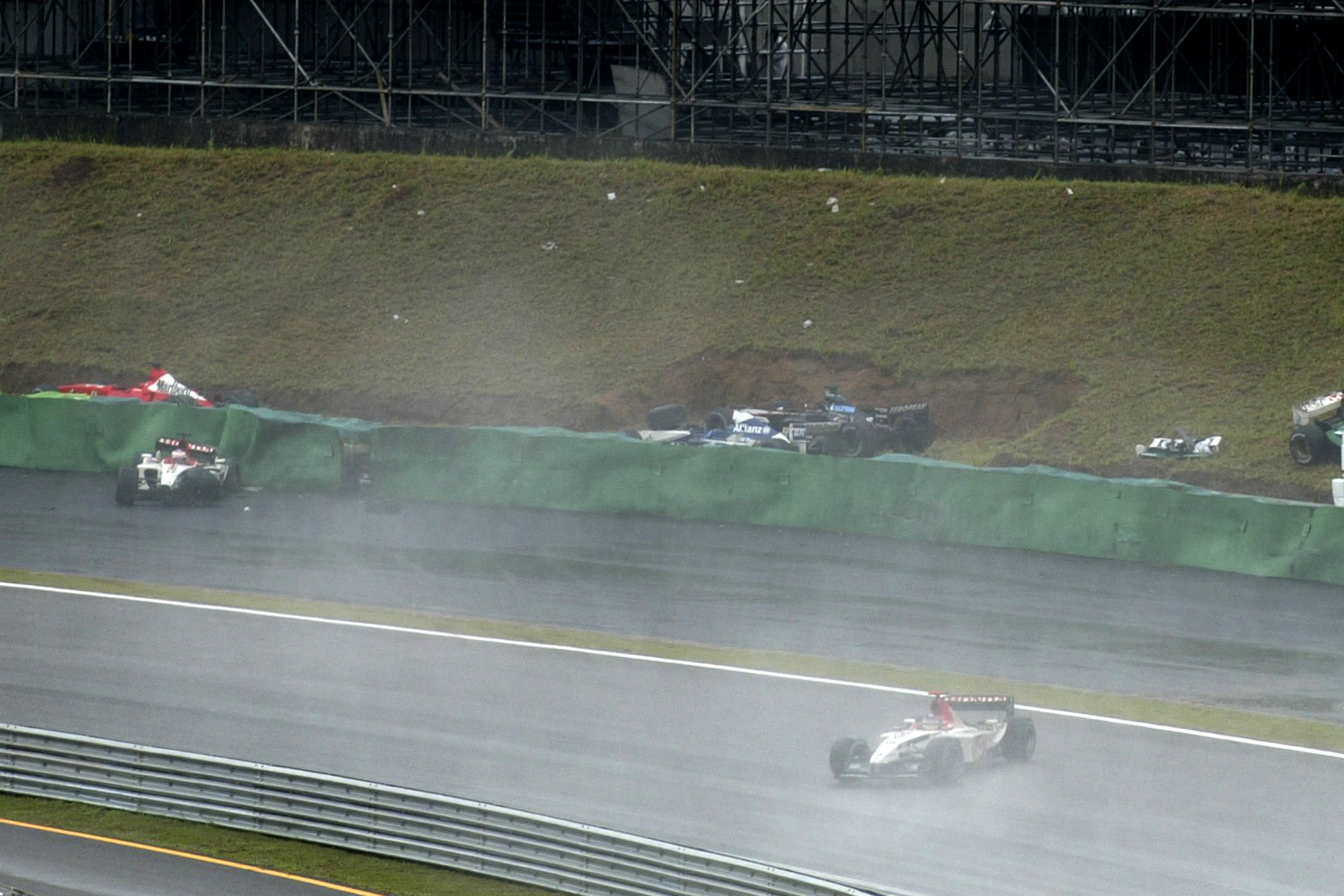 Rain, fire and the winds of change: the 2003 Brazilian GP may be F1's craziest race