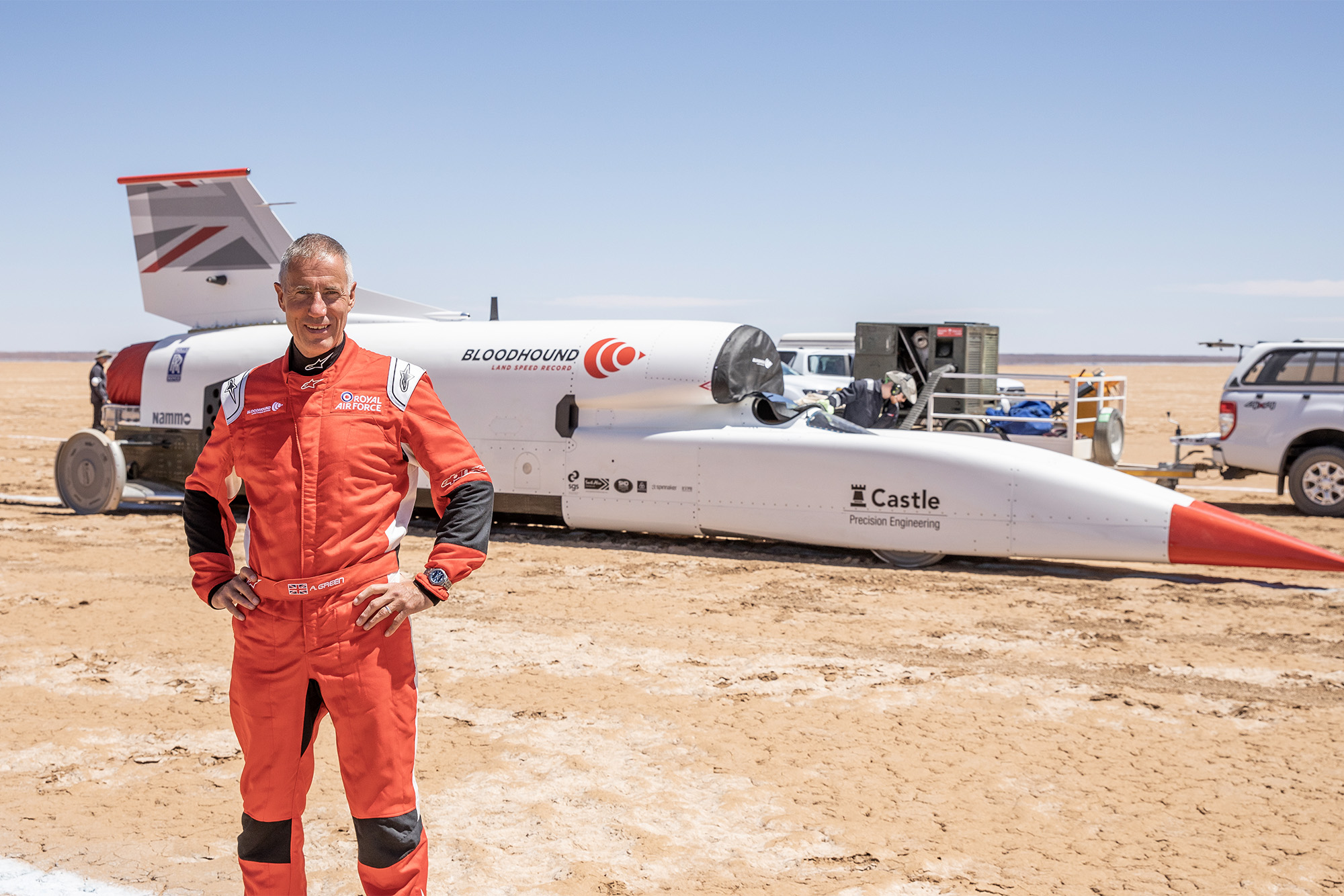 Andy Green, RAF Pilot and man behind the wheel of the Bloodhound LSR car