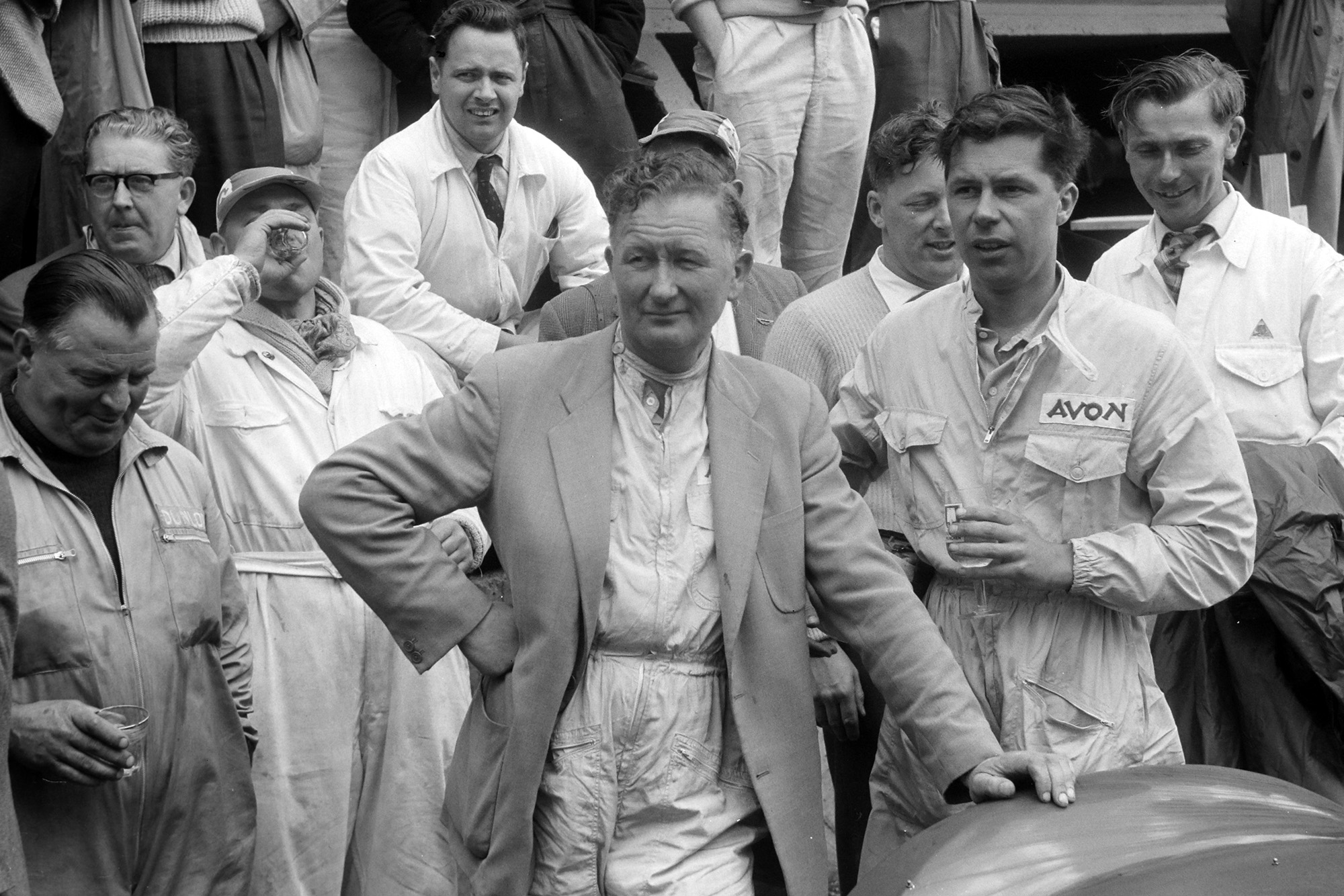 Peter Whitehead during the 1958 Le Mans 24 Hours