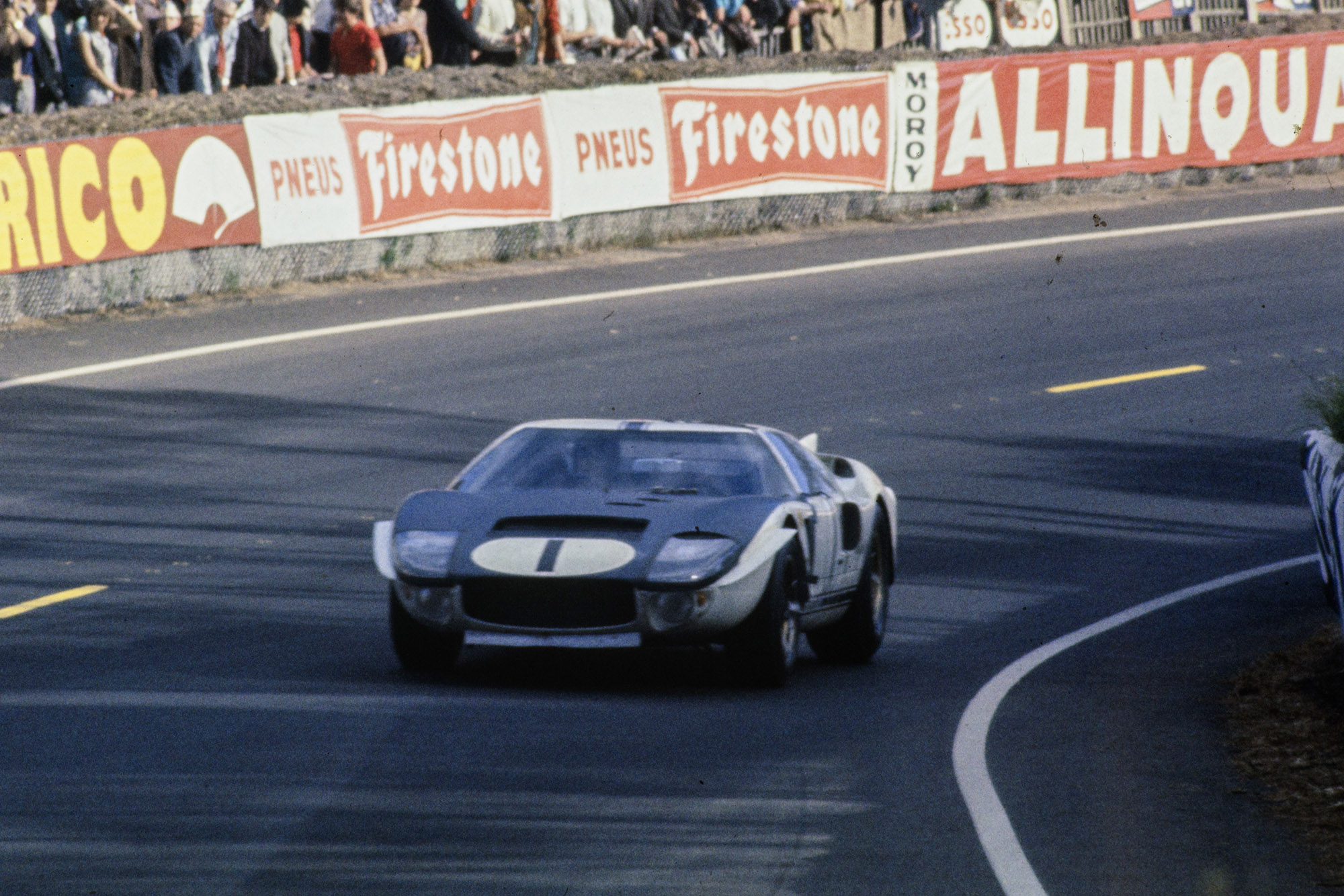 Ken Miles and Bruce McLaren Ford GT40 at Le Mans in 1965