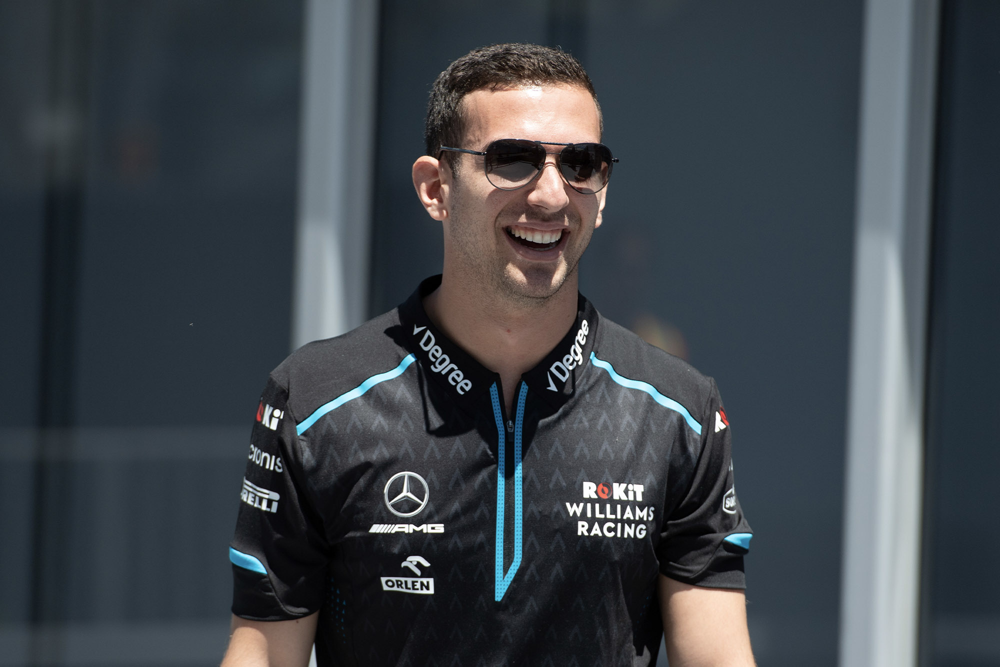 Nicholas Latifi in Williams gear during the 2019 Formula 1 season