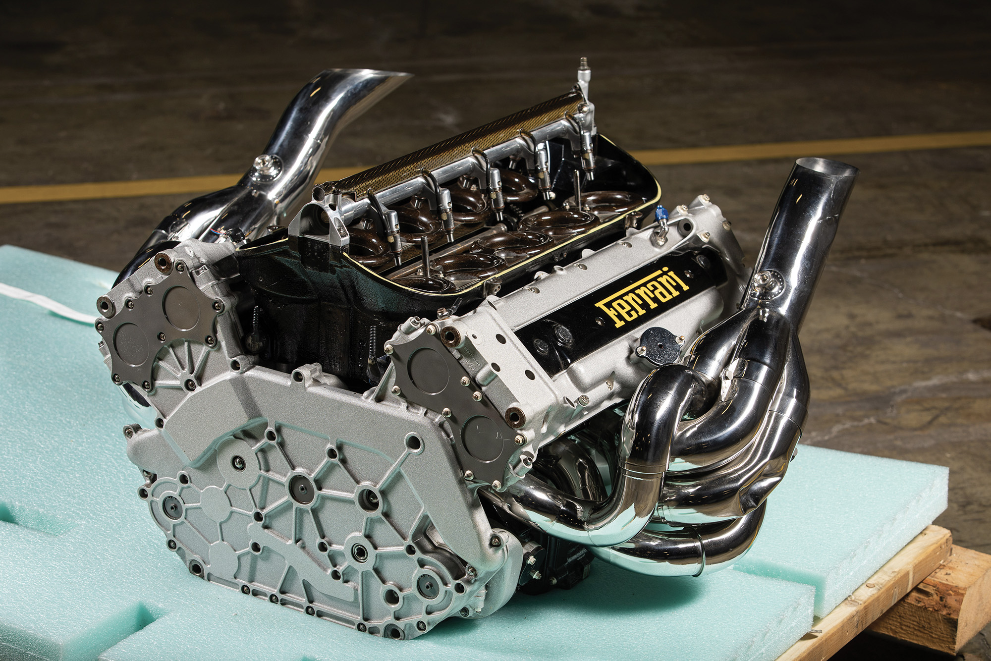 Ferrari F2002 engine sold for $93,600 in a December 2019 auction