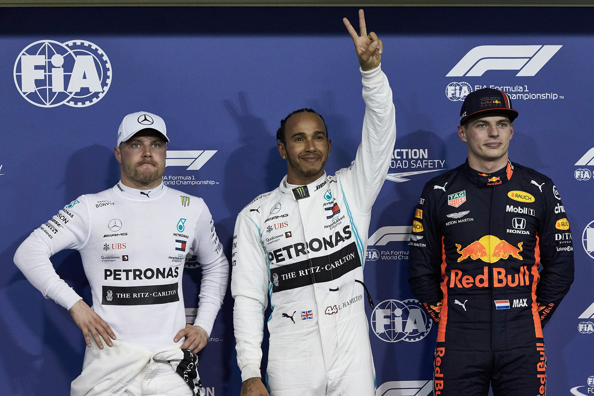Hamilton, Bottas and Verstappen: top 3 qualifiers at the 2019 F1 Abu Dhabi Grand Prix