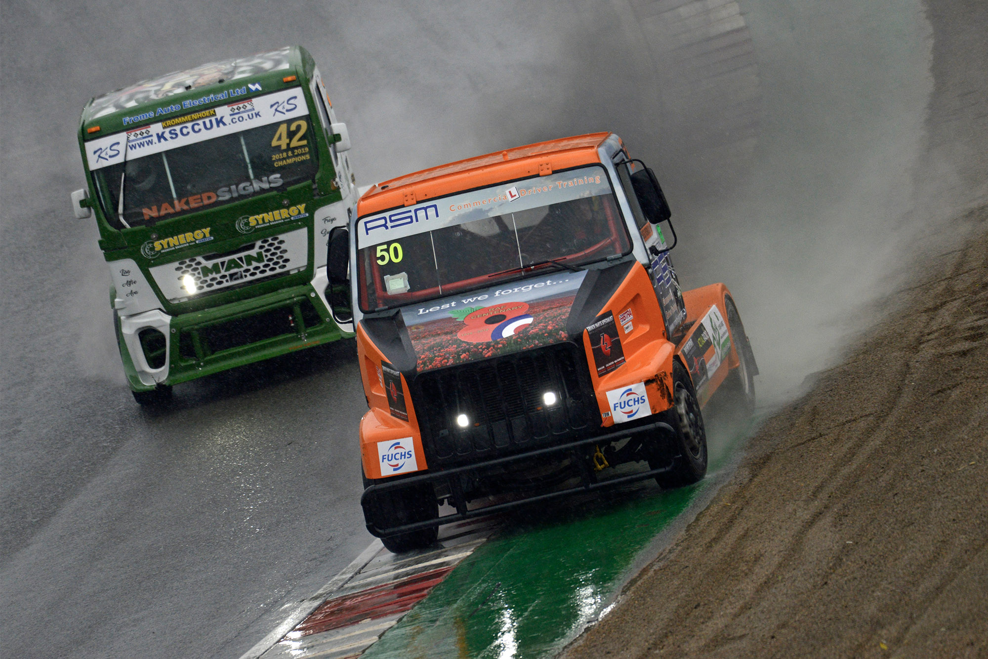 British Truck Racing Association Championship racing from Brands Hatch