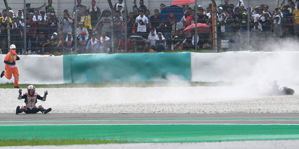 Why did MotoGP's crash rate drop by almost a third in 2019?