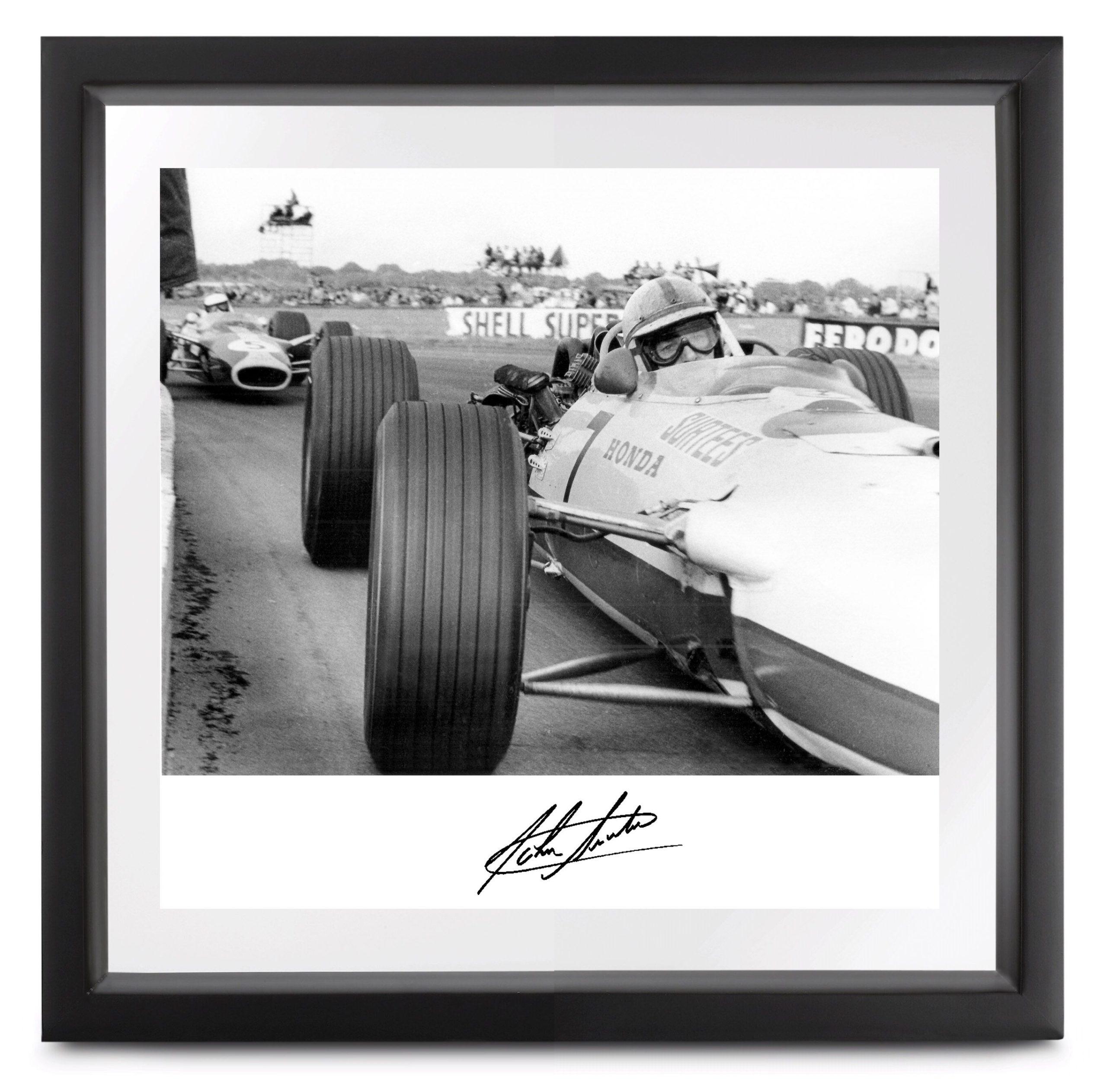 Product image for Honda RA273 at Copse Corner, signed by John Surtees