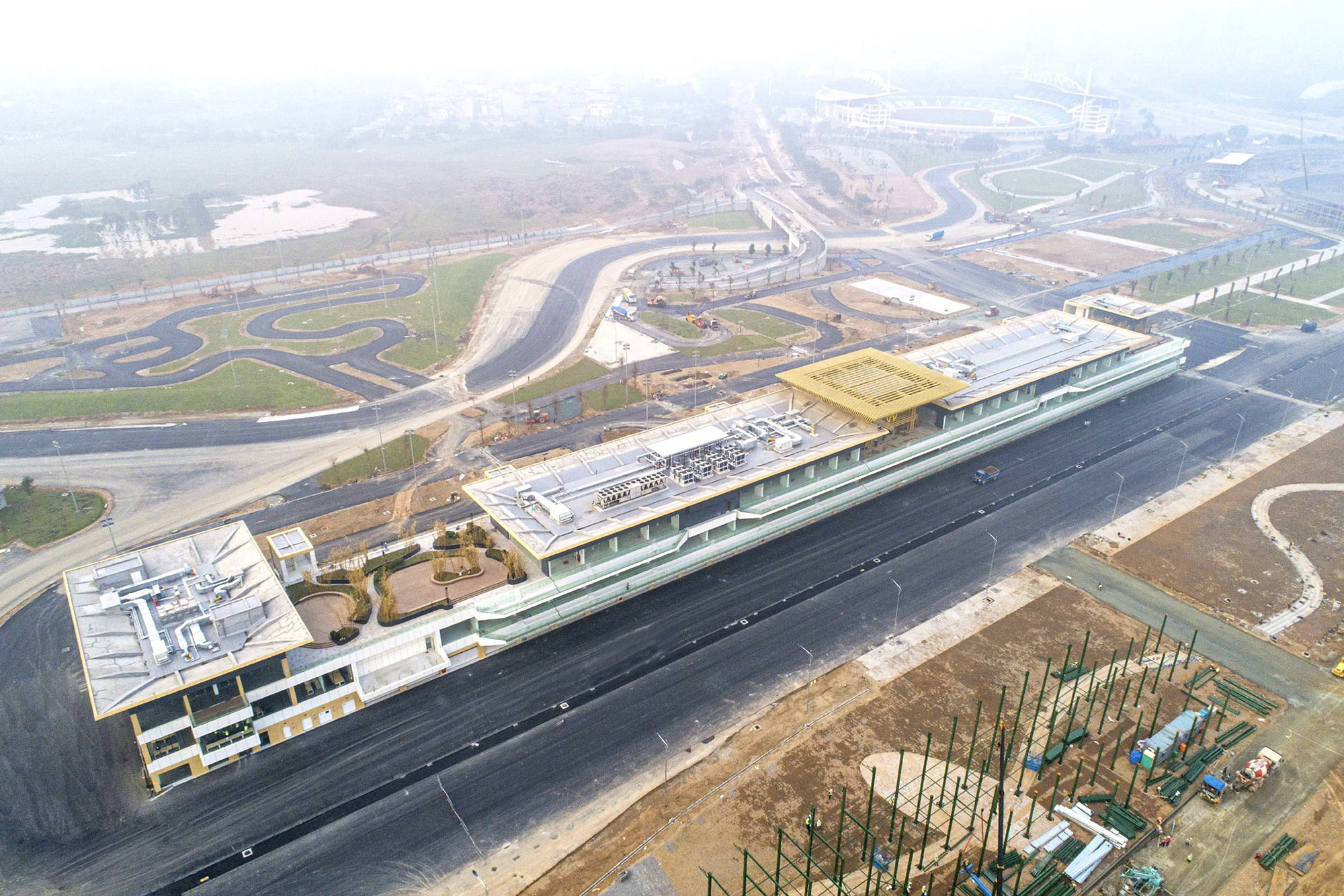 Hanoi circuit: pit building complete ahead of 2020 Vietnamese GP