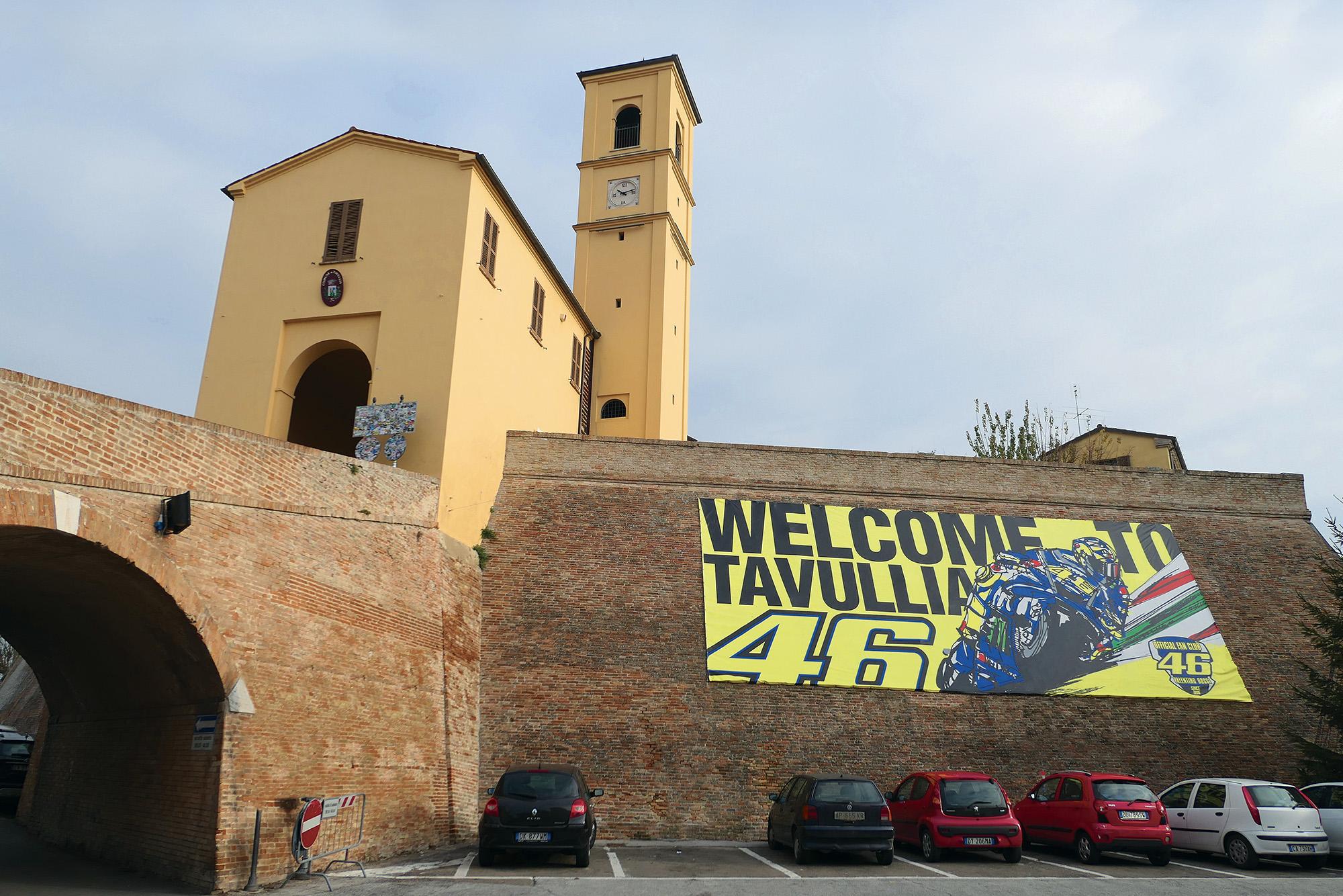 VR46 banner in Tavullia