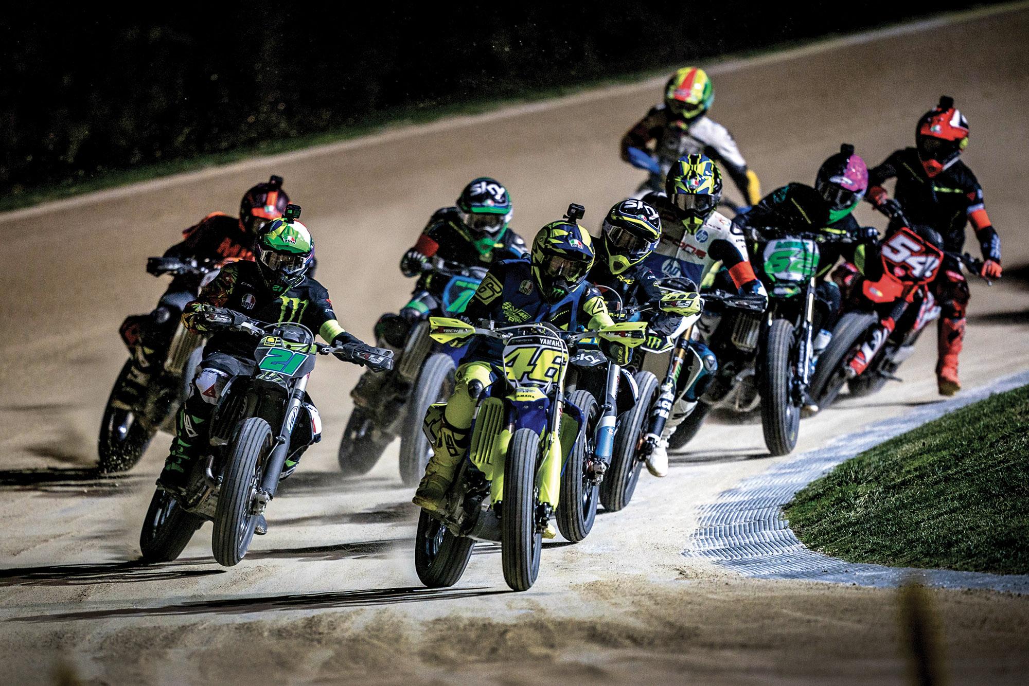 Racing at VR46 ranch