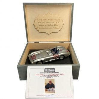 Product image for 1955 Mille Miglia, Mercedes-Benz 300 SLR '722' Model: Signed by Sir Stirling Moss