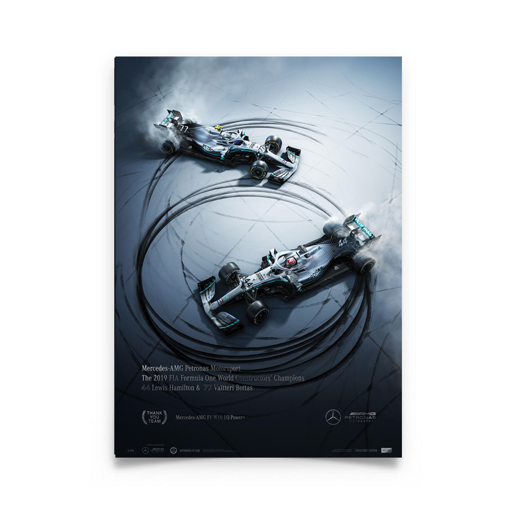 Product image for Mercedes-AMG Petronas Motorsport - Donuts - Collector's Edition Poster