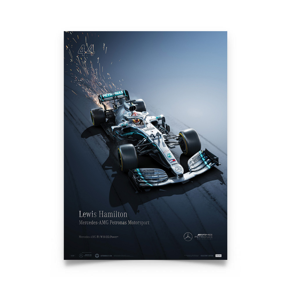 Product image for Mercedes-AMG Petronas Motorsport - Lewis Hamilton - Collector's Edition Poster