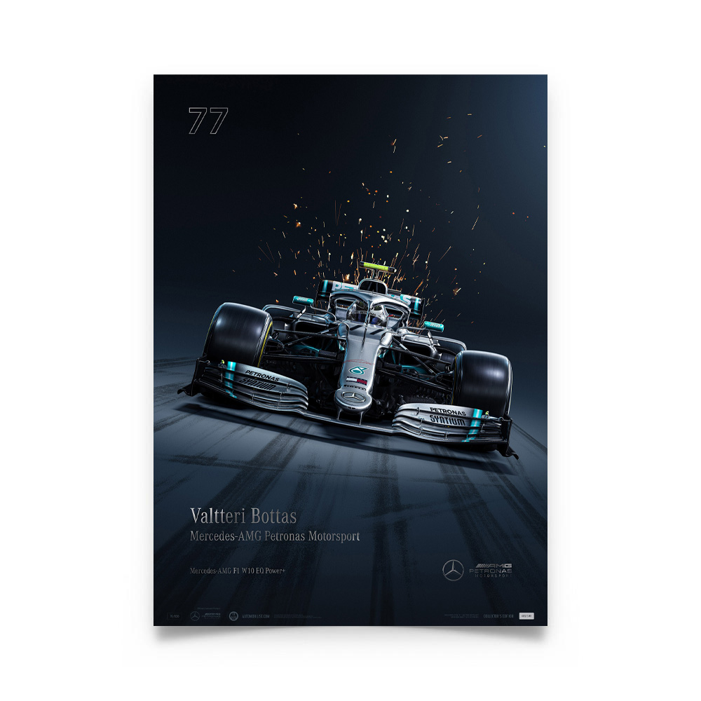 Product image for Mercedes-AMG Petronas Motorsport - Valtteri Bottas - Collector's Edition Poster