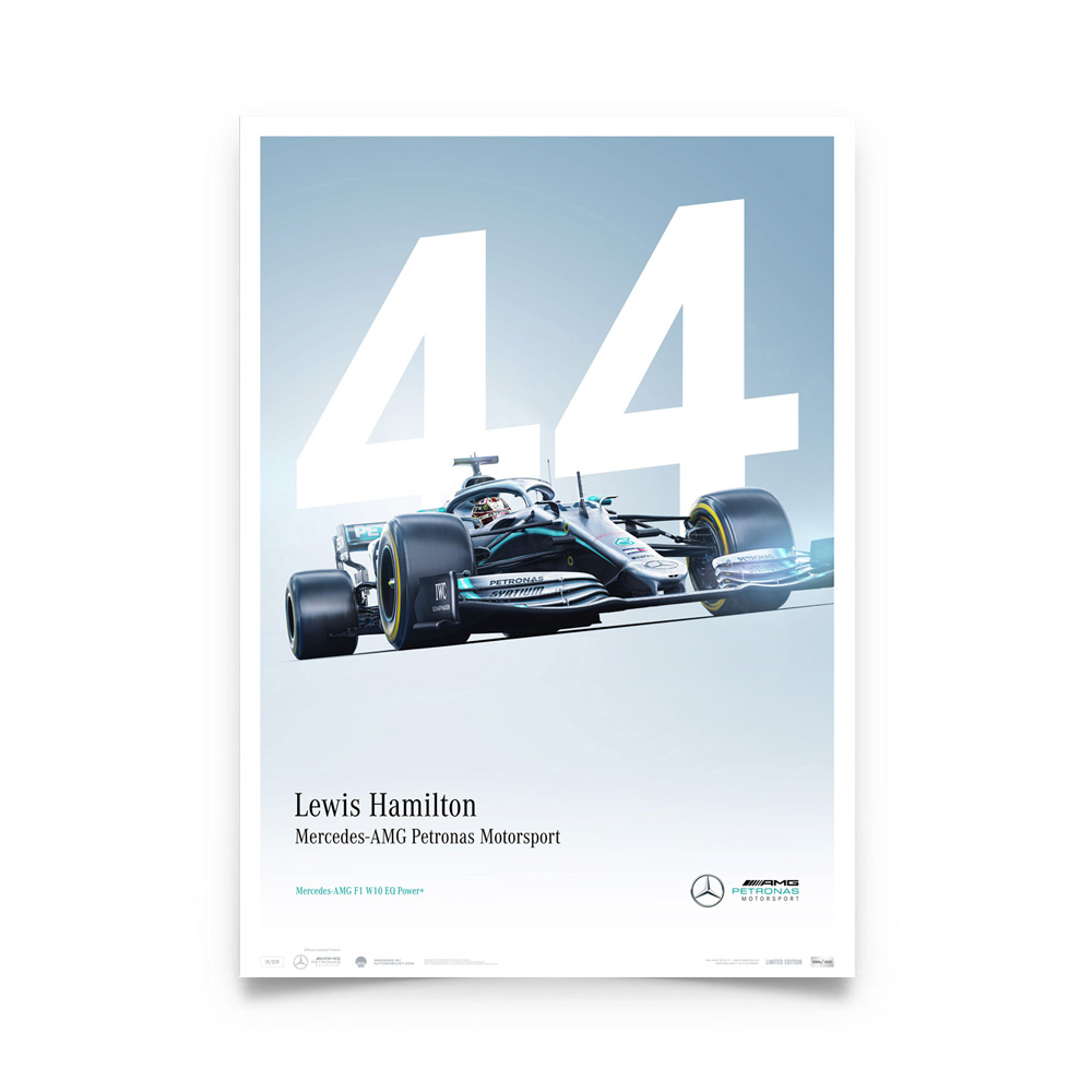Product image for Mercedes-AMG Petronas Motorsport - Lewis Hamilton - Limited Edition Poster