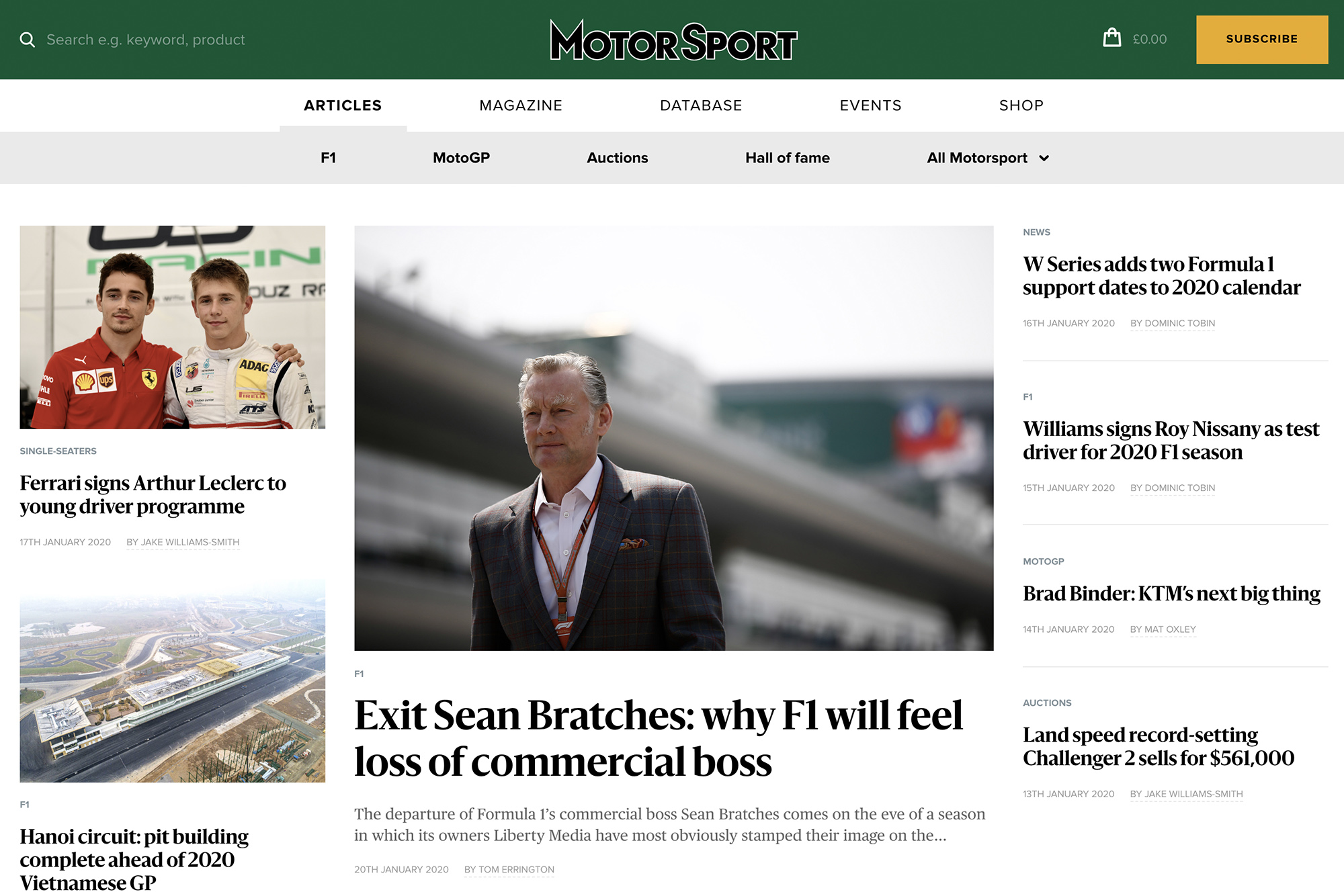 Welcome to the new Motor Sport website