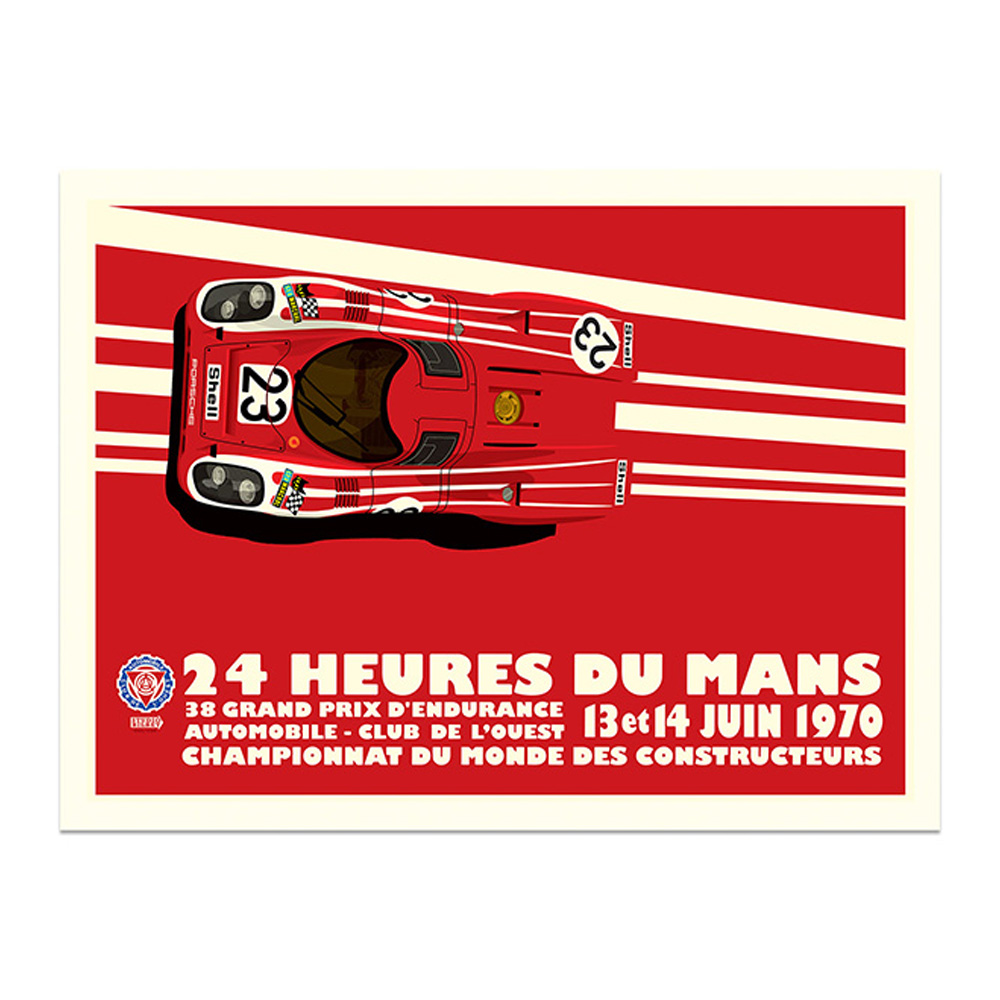 Product image for 1970 Salzburg Porsche 917 Le Mans 24 Hours Poster by Studio Bilbey