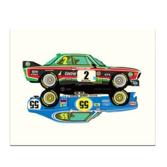 Product image for BMW 3.5CSL - Ford Capri 3100 Rivals Print by Studio Bilbey