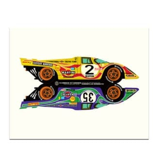 Product image for Porsche 917 Hippy Cars Print by Studio Bilbey