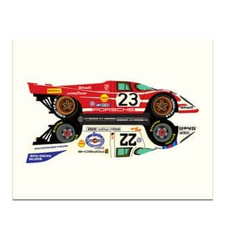 Product image for Porsche 917 Le Mans Winners 1970 & 1971 Print by Studio Bilbey