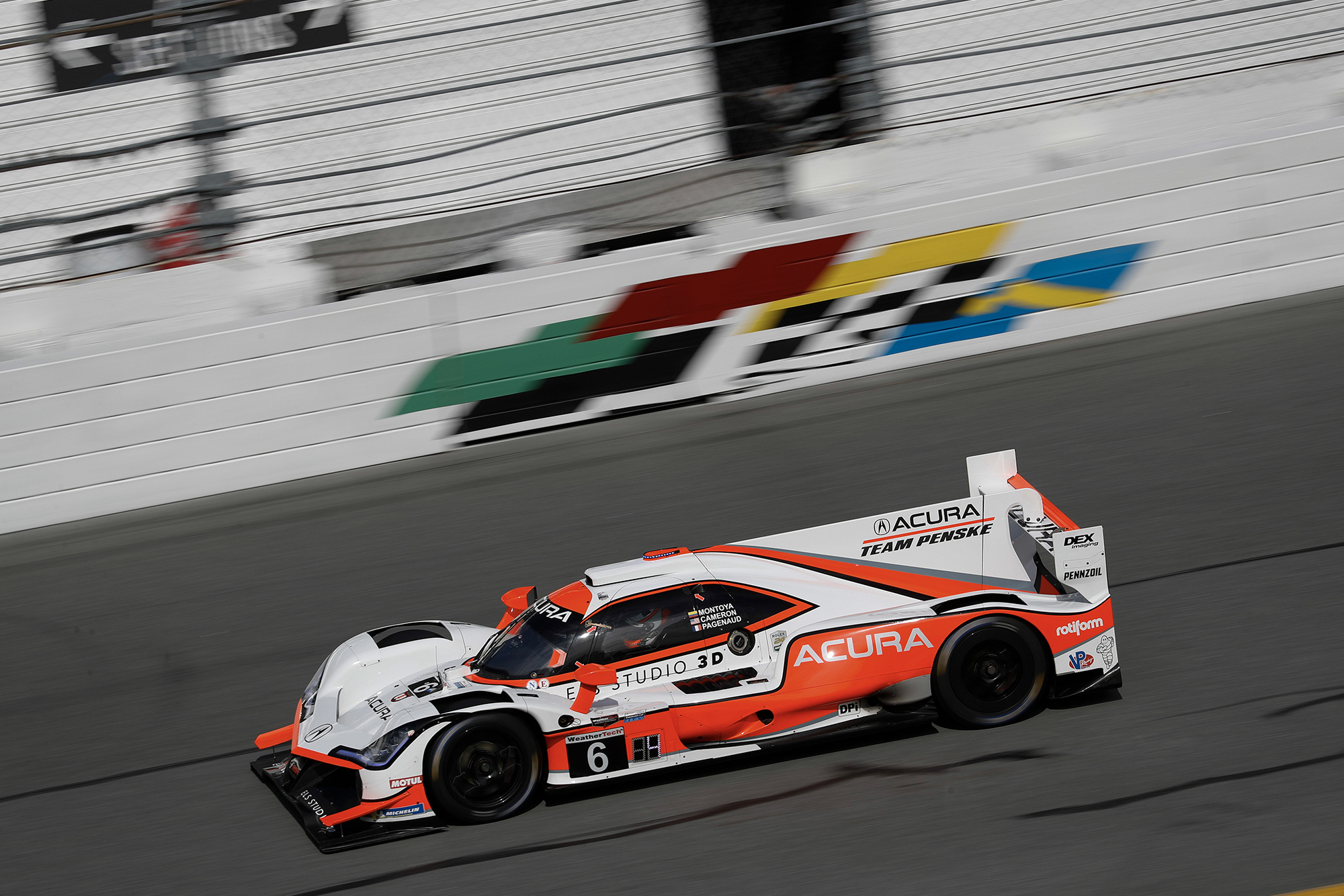 Juan Pablo Montoya's Acura Team Penske on track at the 2020 Daytona 24