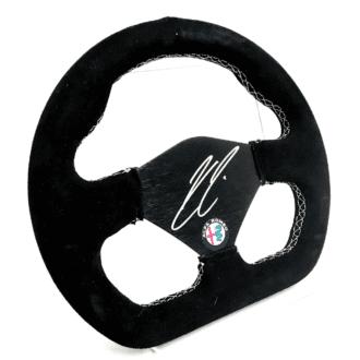 Product image for Kimi Raikkonen signed steering wheel