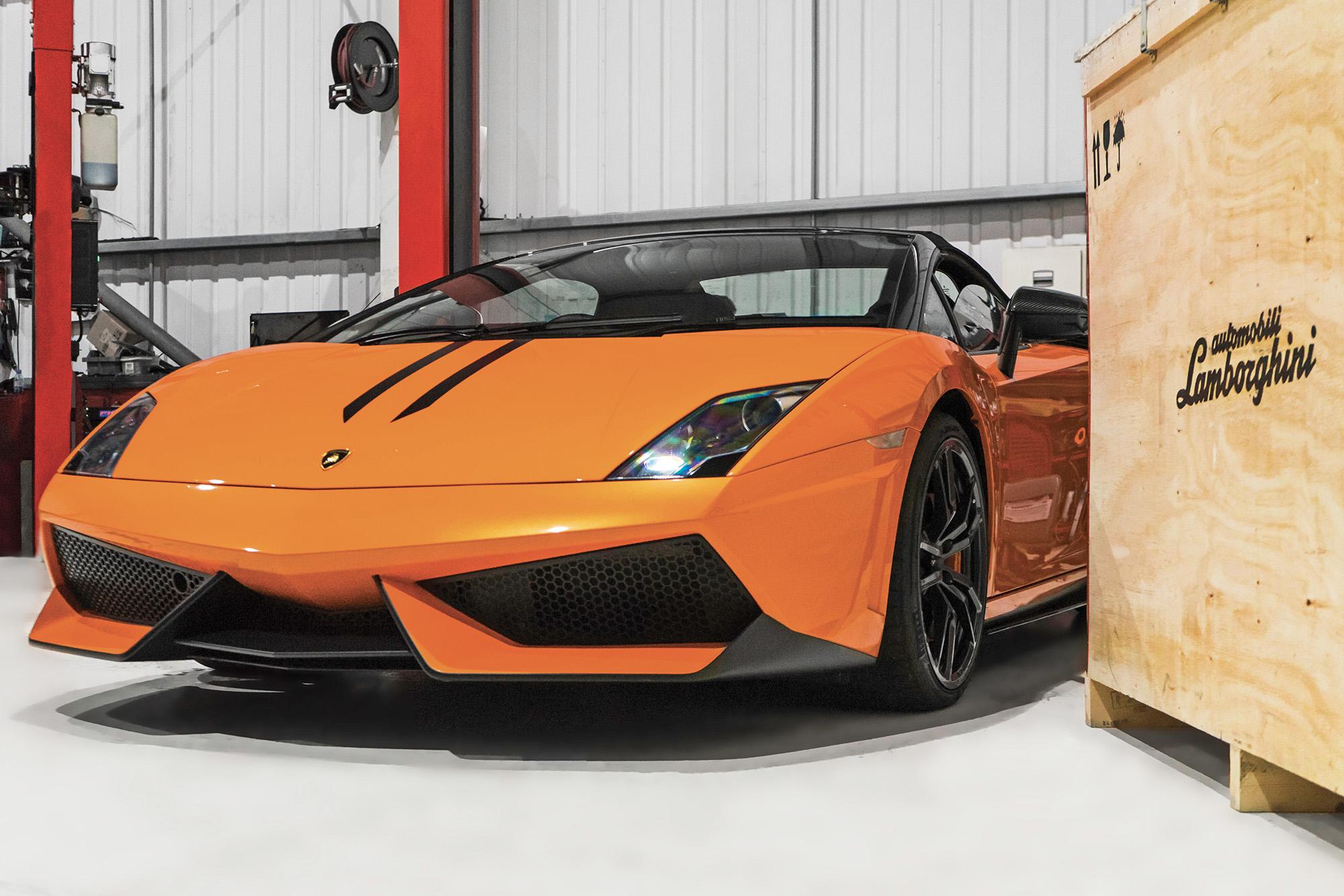 Orange Lamborghini Gallardo