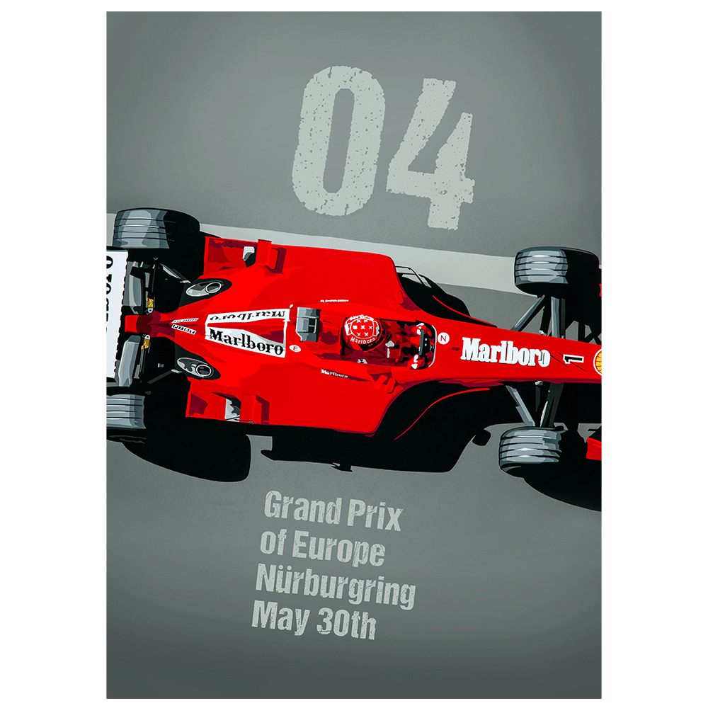 Product image for 04 European GP Poster-Style print
