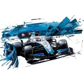 Product image for George Russell 2019 Williams FW42 Giclée Print