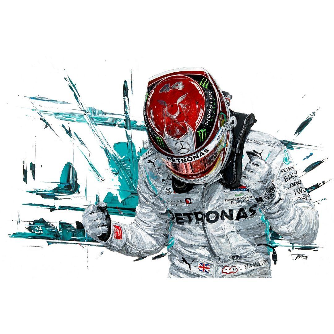 Product image for Lewis Hamilton  2019 F1 World Champion Giclée Print