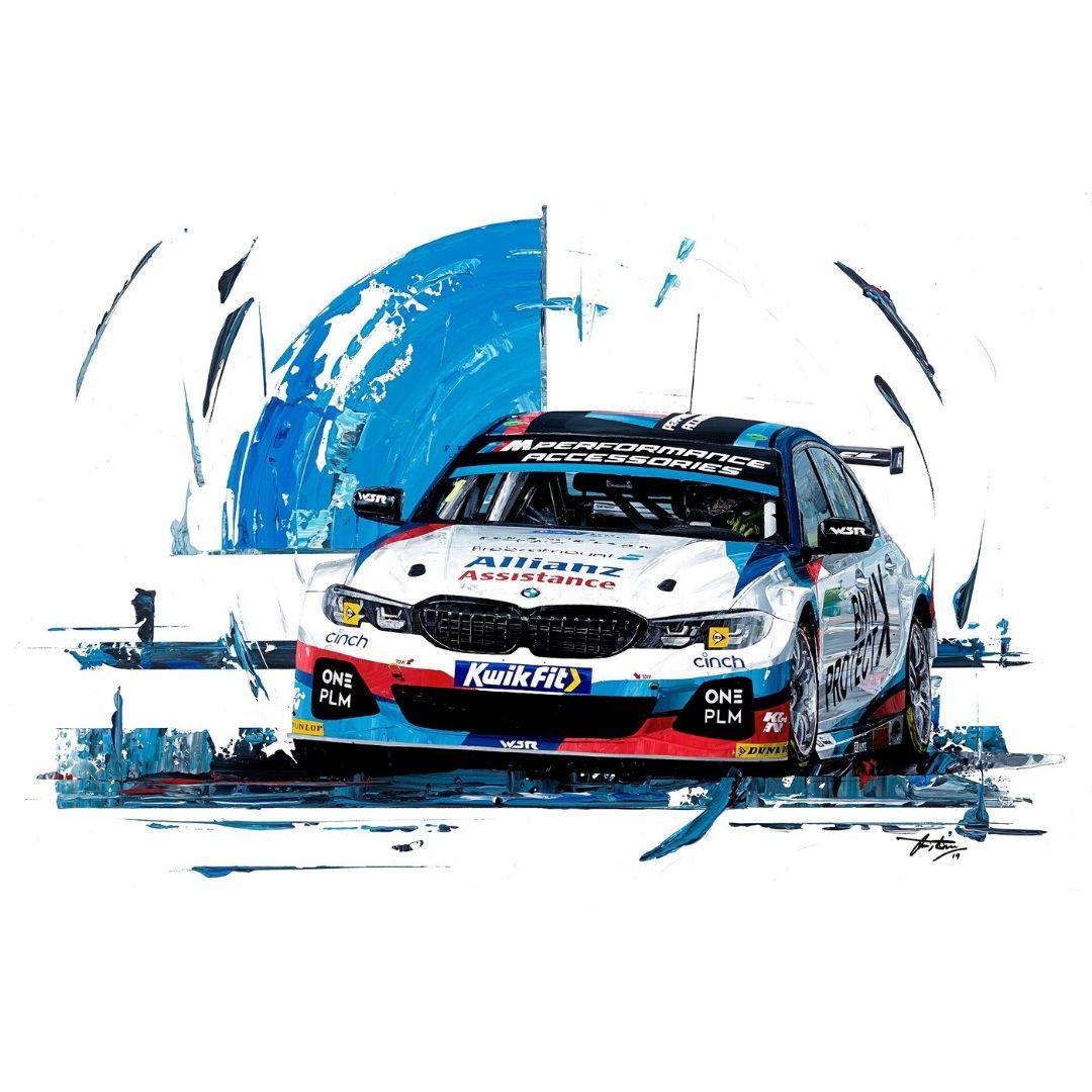 Product image for Colin Turkington  2019 Team BMW WSR Giclée Print